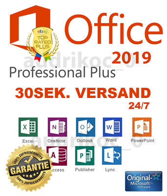Microsoft Office 2019 Professional Plus ✅ Vollversion ✅ Deutsch ✅ 1PC ✅ 64/32BIT