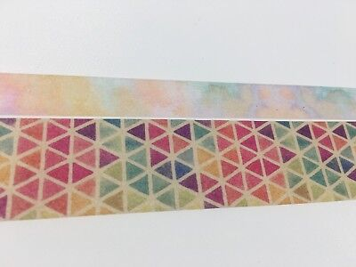 Rainbow Dream Painting Triangle Washi tape Assorted Color Wide Fat Tape Marble