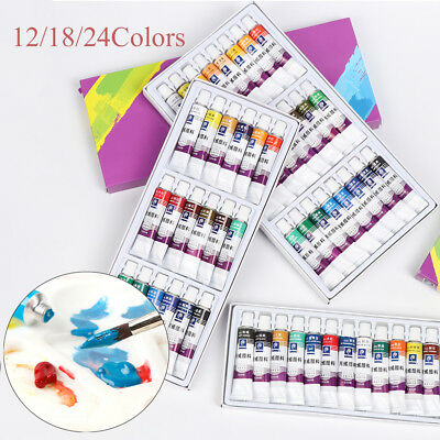 Acrylic Paint Set 12ml Glass Art Painting Drawing Tools Artists Canvas Pigment