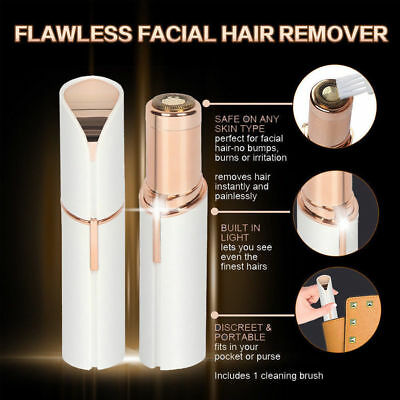 Facial Finishing Hair Remover Women Touch Flawless Skin Painless Hair Epilators