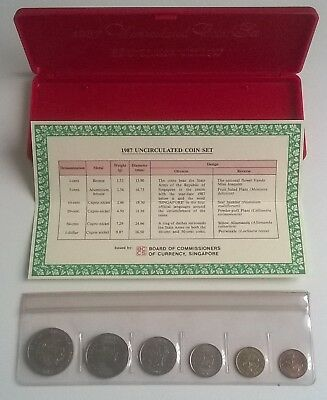 "Singapore ""Year of the Rabbit"" 1987 Uncirculated Coin Set, TOP"