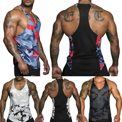 US Gym Men's Muscle Sleeveless Tank Tops T Shirt Bodybuilding Sport Fitness Vest