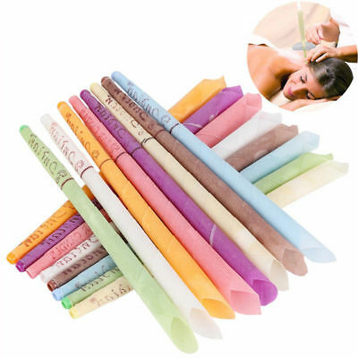 6/12x Earwax Candles Hollow Blend Cones Beeswax Ear Cleaning Hearing Massage Hot