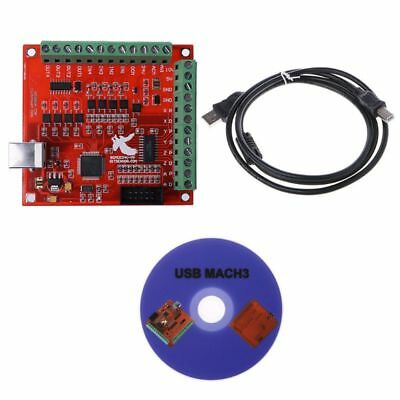 CNC USB MACH3 100Khz Breakout Board 4 Axis Interface Driver Motion Controller