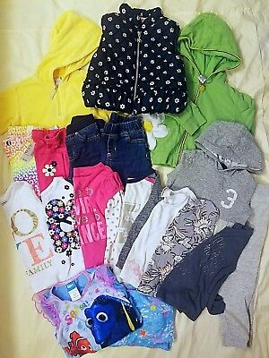 17 Piece Toddler Girl Lot Mix Match Fall Winter Spring 3T Outfits Casual CUTE