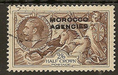 Morocco Agencies British 1935-37 Kgv 2/6 Seahorse (Re-Engraved) Sg73