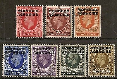 Morocco Agencies British 1935-37 Kgv Photo Set To 1/- Sg66/72