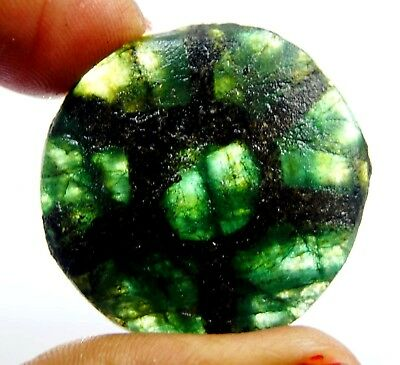 GGL Certified 69 Ct Natural Trapiche Emerald from Colombia Untreated Gemstone