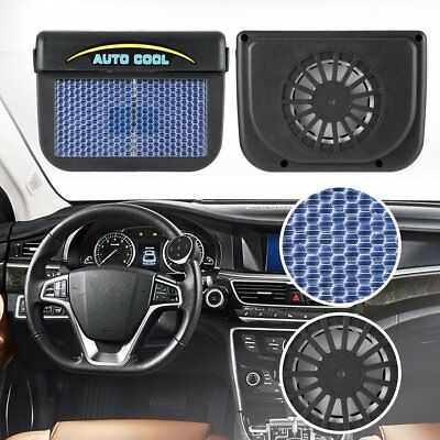 Solar Sun Power Car Auto Air Vent Cool Fan Cooler Ventilation System Radiator  Z