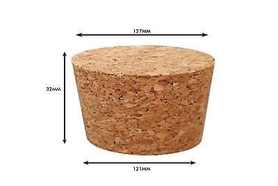 Tapered Natural Cork Stoppers Bungs Bottle Homebrew Beer Wine 121mm dia Bottom