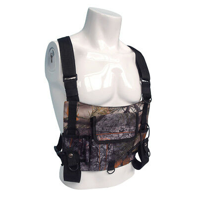 Chest Rig Bag Radio Harness Chest Front Pouch Holster Vest Rig Walkie Talkie