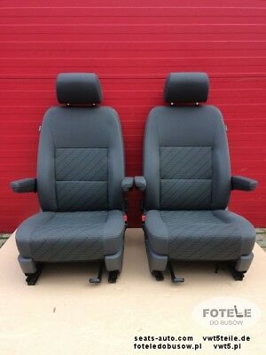 Seats Vw T5 T6 Front Seat Cheyenne Armrests Comfort Adjustments Airbags