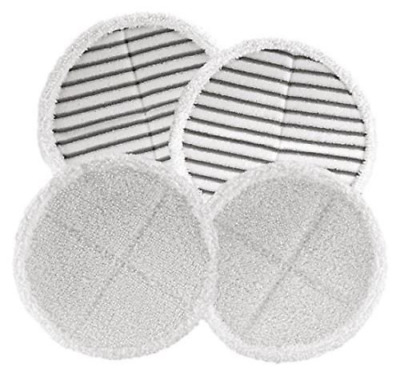4 Replacement Heads Pack Mop Pads For Bissell Spinwave 2039A 2124 Powered Hard