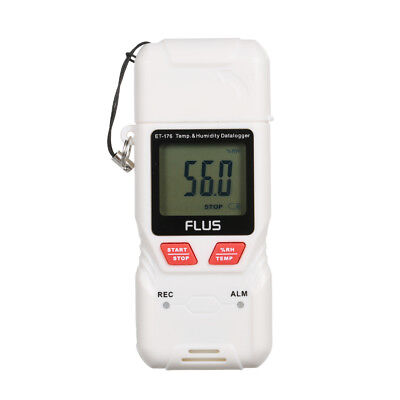 FLUS USB Humidity and Temperature Data Logger Recorder LCD High-Accuracy L3F7
