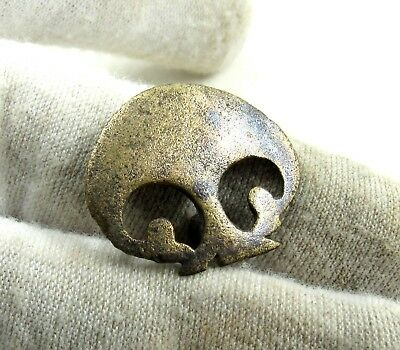 Authentic Medieval Period Silvered Bronze Open-Work Mount  - H640