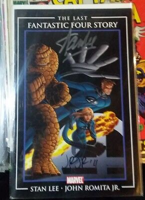Stan Lee & John Romita Jr signed Last Fantastic Four Story Lee's Last EVER F.F.