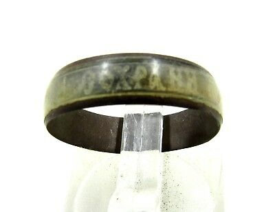 Authentic Post Medieval Period Ring W/ Inscription - H648