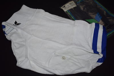 Erima Shorts Short Frotee Hose Tights Hot Pant Vintage 80er 80s Weiß 5 42-44 NEW
