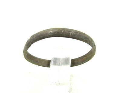 Authentic Post Medieval Period Bronze Wedding Band / Ring - H651