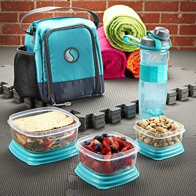 7508ac39d40 Fit & Fresh Meal Prep Starter Kit with Portion Control Containers and Jaxx  Activ