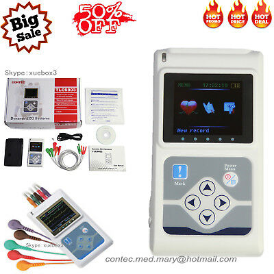 CONTEC 3 Channel Holter TLC9803 Dynamic ECG System,24 Hours ECG 24Hs Recorder,CE