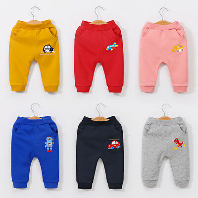 Baby Boys Girls Kids  Pants Outfits Newborn Animal Pants Cotton Autumn bottoms
