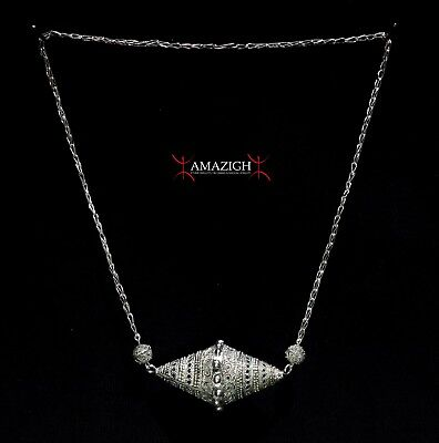 Old Extra Fine Berber Necklace - Silver Filigree – Mauritania