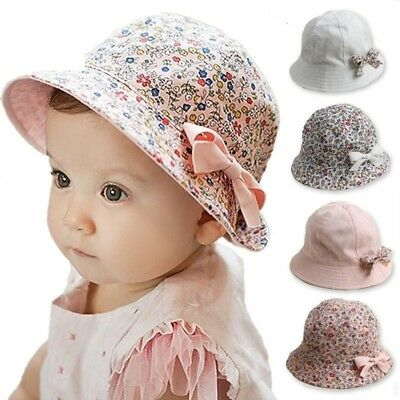 Children Sunbonnet Sun Hats Two-sided 50CM Caps Baby Infant Kids Fitted Unisex