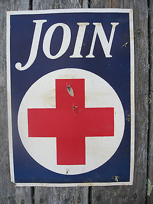 Antique Original Early 1900's Red Cross Poster