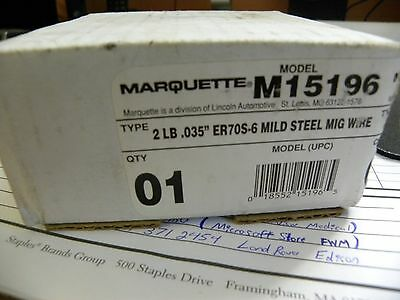 "2 Lb. Roll Of Marquette Er70S-6 .035"" Mild Steel Mig Wire (M15196)"