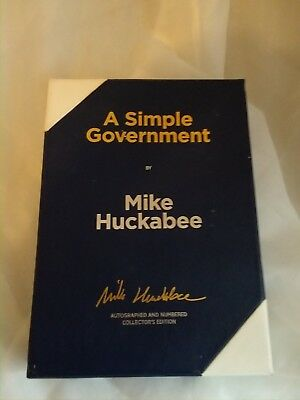 A Simple Government by Mike Huckabee (2011 Limited Signed Copy Hardcover)
