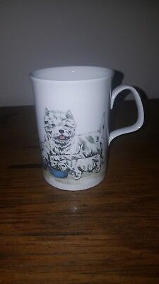 ORIGINAL ROY KIRKHAM MUG c 1990 DOG LOVERS SIGNED BY K M HASSALL westies #