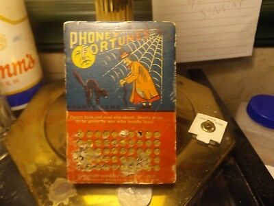 Gypsy Witch Fortune Telling PHONEY  FORTUNE  KEY PUNCH OUTS --SCARCE