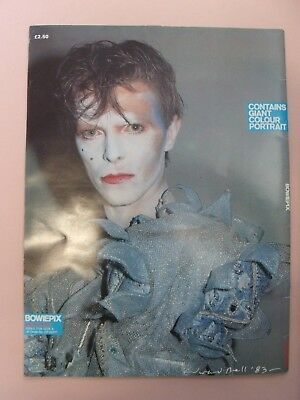 BOWIEPIX with POSTER STILL IN PLACE !! DAVID BOWIE 1st EDITION 1983.LARGE BOOK