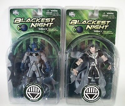 Dc Direct Blackest Night Series Black Lantern Batman - Superman Action Figure