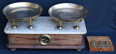 Vintage Old Kitchen Home Libra Balance Beam Scale Mechanical With Weights!!!