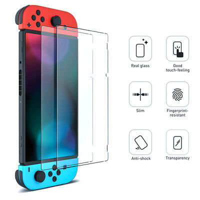 2 Pack Genuine 9H TEMPERED GLASS Screen Protector Cover for Nintendo Switch