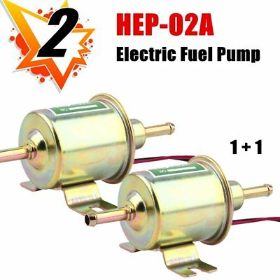 2x Low Pressure Electric Fuel Pump HEP-02A Universal Gas Diesel Inline Verhicl Z