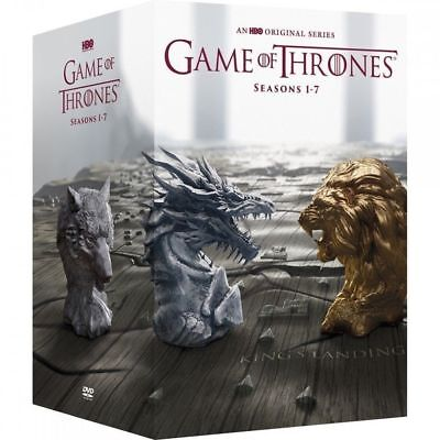 Game of Thrones:The Complete Seasons 1-7 (DVD,2017,34-Disc Set-NEW 1 2 3 4 5 6 7