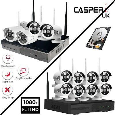 4CH/8CH 1080P Wifi Outdoor Wireless CCTV IP NVR HD Security Camera System Kit