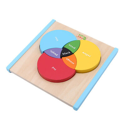 Montessori Educational Puzzle Toys Wooden Colorful Learning Board Game N7