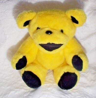 """Vintage Steven Smith Grateful Dead Bear Yellow Plush 12"""" Jointed"""