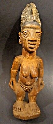 Museum Quality Antique African Yoruba Twin Figure - NIGERIA - Early 20th Century