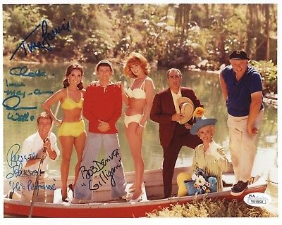 GILLIGAN'S ISLAND HAND SIGNED 8x10 CAST PHOTO   SIGNED BY 4    RARE   JSA LETTER