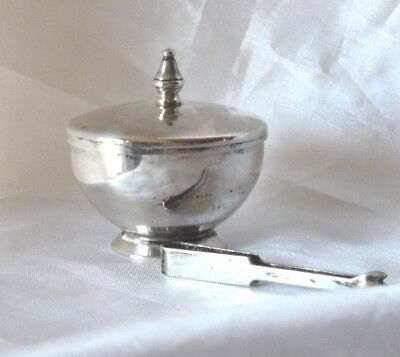 Vintage Gorham Sterling Silver Miniature Sugar Bowl Pot With Tongs -  #369