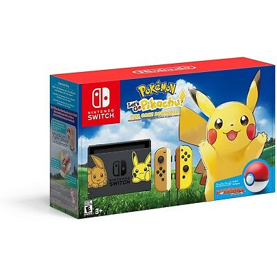 Nintendo Switch Pikachu & Eevee Limited Edition Console Pokemon Let's Go Bundle