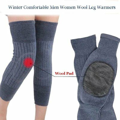 Heater Knee Warmer Sleeves Kneecap Wool Leg Sleeve Winter Warm Thermal HeatingRP