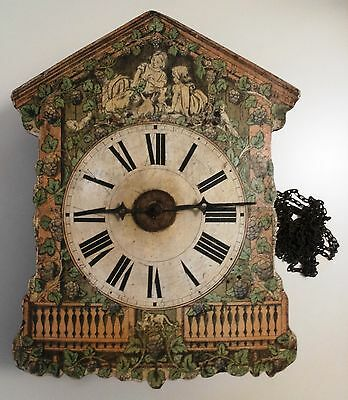 Black Forest Wag On The Wall Clock  For Spares Or Repair