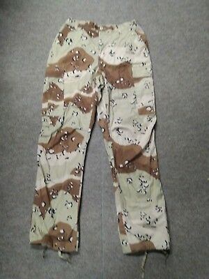 USGI Six Color Desert Chocolate Chip Camo DBDU Pants Medium Regular