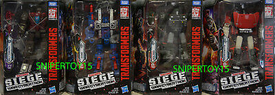 Transformers Siege Deluxe Wave 1 Set Sideswipe Cog Skytread Hound In Stock